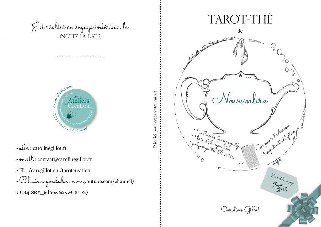 Tarot Création - Carnet de novembre en vidéo